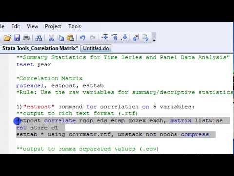 (Stata13):Export Correlation Matrix Output to Excel, Word