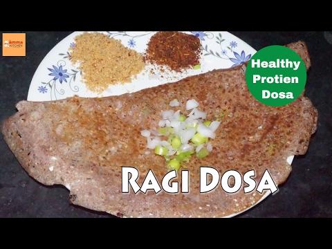 Ragi Dosa recipe in telugu | Diabetic and healthy indian Recipes by Amma Kitchen-