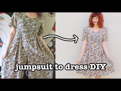 Jumpsuit to Dress DIY