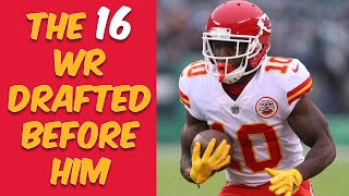 Who Were The 16 Wide Receivers Drafted Before Tyreek Hill? Where Are They Now?