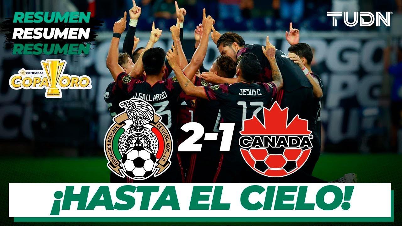 Resumen y goles | México 2-1 Canadá | Copa Oro 2021 - Semifinal | TUDN