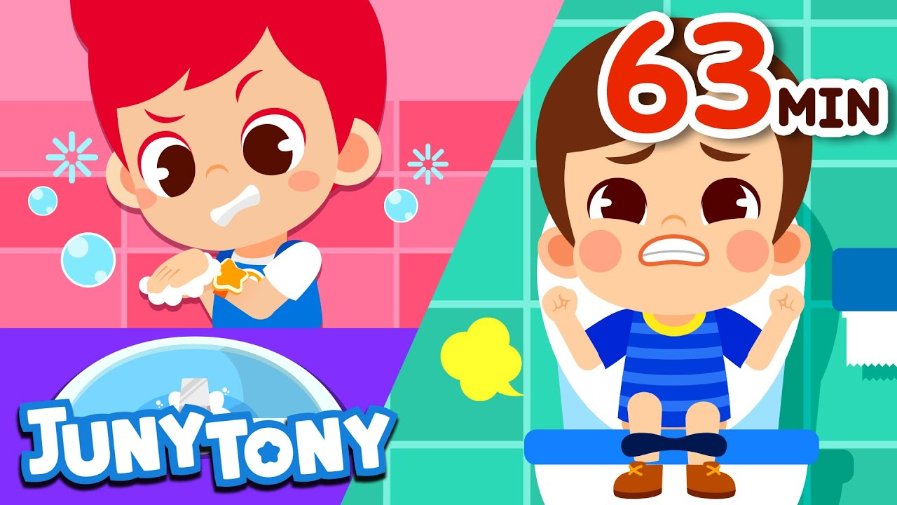 Yes Yes Wash Your Hands + More Kids Songs | Good Habit Songs Compilation | JunyTony