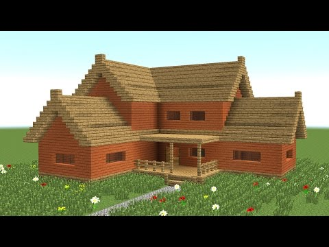 MINECRAFT: How to build big wooden house #3