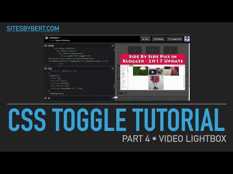 04 Css Toggle Tutorial • Video Lightbox