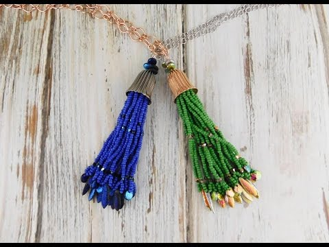 How To Make a Beaded Fringe Tassel Necklace