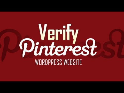 Website Verification in Pinterest account [WordPress users]