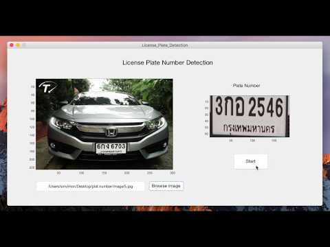 Thai : License Plate Number Detection
