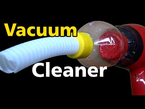 How to Make a Vacuum Cleaner using Hair Dryer