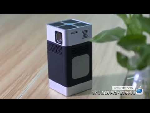 Wireless Mini DLP LED HD 3D Projector Support Wi-Fi Bluetooth with Laser Keyboard  (US Plug)
