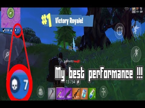 FORTNITE : My Best Performance at a victory royal !!!