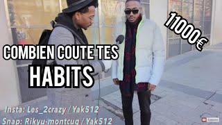11000€ !! Combien Coûte Tes Habits / Sapes ? (edition Champs Élysée) Partie 5 Feat. Reskator #cct