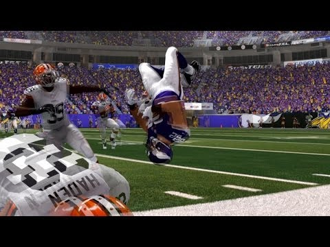The Biggest Hit in Madden NFL 25 | Player Does a Backflip!
