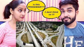 INDIANS react to PESHAWAR city aerial view