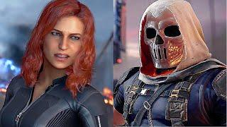 Marvel AVENGERS Game Black Widow Vs. Taskmaster Boss Fight (2020)
