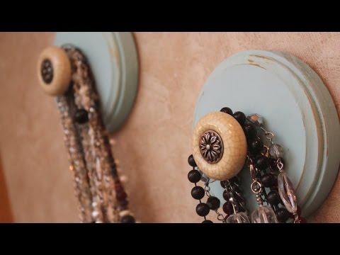 Make a Cool Wooden Necklace Holder - DIY Home - Guidecentral