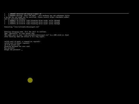Reset root password in RHEL 7