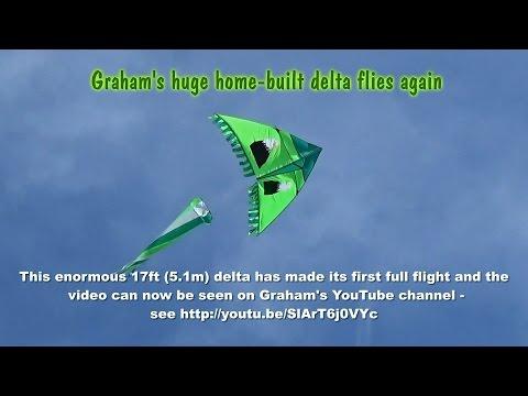 TRAILER: Graham's huge home-built delta kite makes successful flight
