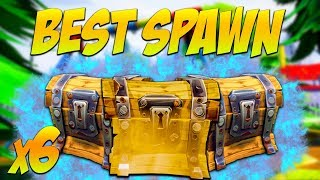BEST Chest/Spawn Locations for Solo & Squads! 6 CHESTS (Fortnite Battle Royale)