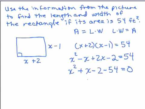 WP3-Solve Rectangle if you know area