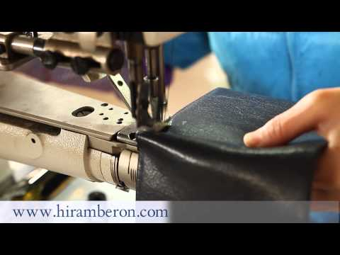 Stitching by machine for the zipper purse from hiramberon