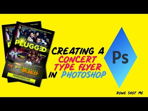 HOW TO CREATE A CONCERT STYLE FLYER/POSTER IN ADOBE PHOTOSHOP