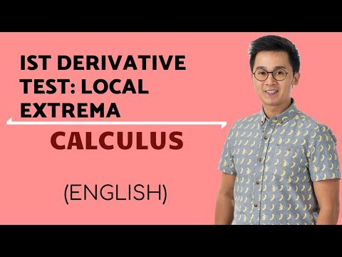 Calculus - First Derivative Test on Local Extrema