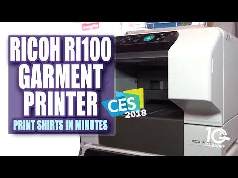 The Ricoh (Anajet) Ri100 Garment Printer