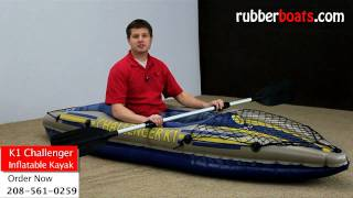Intex K1 Challenger Inflatable Kayak Video Review by Rubber Boats