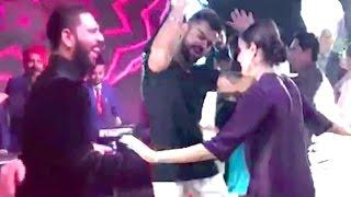 CUTE Video- Virat Kohli Anushka Sharma Dancing At Yuvraj - Hazeel Wedding
