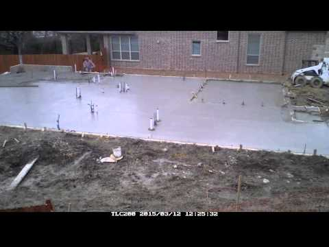 Pouring the Foundation for a House Timelapse