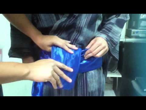 How to tie Obi Belt for Male
