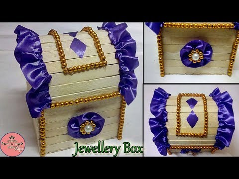 How to make Popsicle Stick Jewellery Box || Popsicle Stick Craft || Ice cream Stick Craft