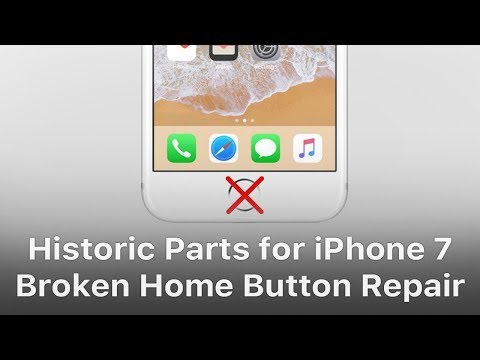 Historic Parts for iPhone 7 Home Button Broken Repair