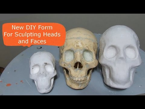 Making a Form For Sculpting A Head
