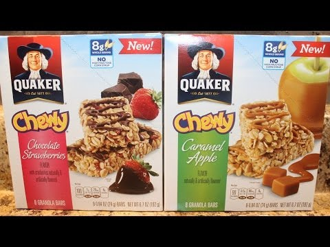 Quaker: Chocolate Strawberries & Caramel Apple Bars Review