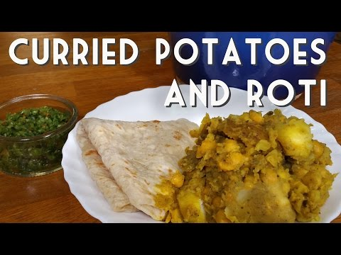 VEGAN TRINIDAD POTATO AND CHICKPEA CURRY WITH ROTI RECIPE