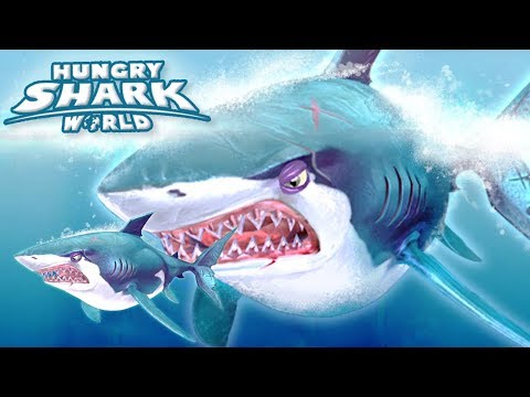 GREAT WHITE GROWTH EVENT!!! - Hungry Shark World   Ep 53 HD