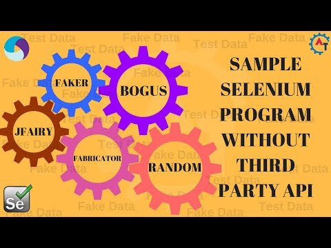 2. Sample Selenium Program Without Third Party API (Hard Coded Values for Unique Fields))