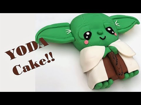 The BEST Star Wars LAST JEDI YODA cake!