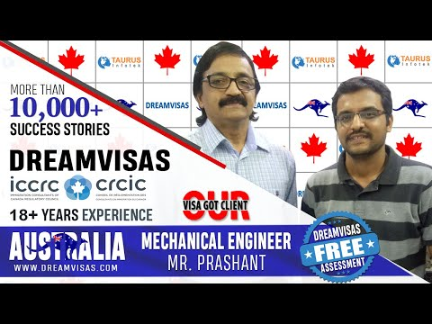 Prashant, Mechanical Engineer, receiving his Australia PR visa