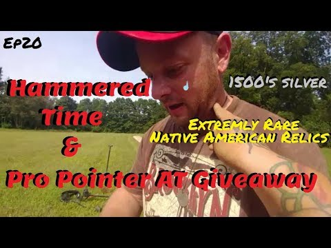Free!! Garrett Pro Pointer AT Giveaway & 1500's hammered silver and rare Indian Relics!!!!