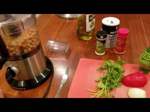 How to make hummus! No tahini needed! So delicious and easy!