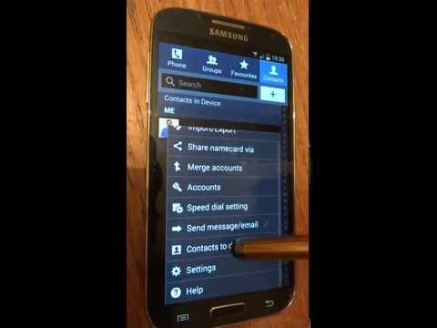 How to choose which contacts to display SIM/Device/skype/Gmail on Samsung Galaxy S3/S4