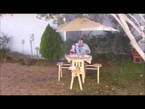 Incredible folding picnic table!