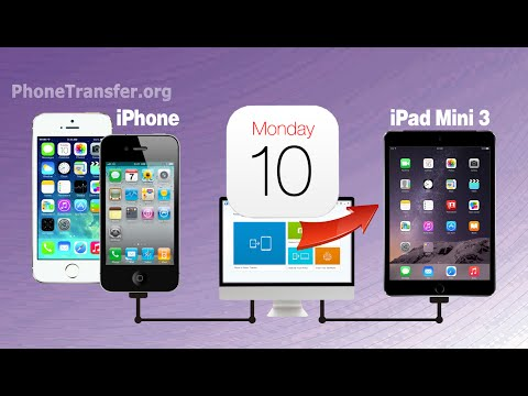 How to Transfer Calendar from iPhone to iPad Mini 3, Sync iPhone 6 Calendar to iPad Mini 3