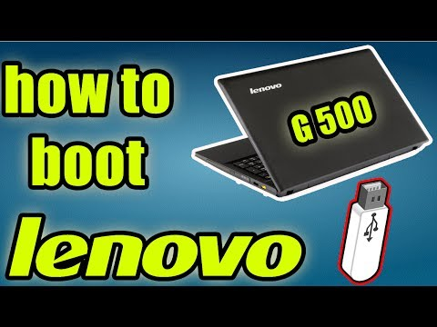 how to boot lenovo G400/G500/G405 from a usb