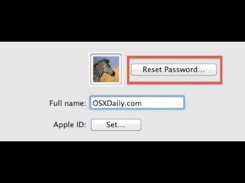 Reset Admin Password MacBook Air Without Administrator Password