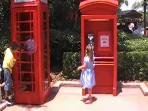Phones at United Kingdom in Epcot