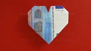 Geldschein Falten Herz Herz Falten Aus Geld Geldscheine