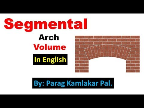 (English) Segmental Arch - How to calculate quantity of materials in segmental arch by Parag Pal